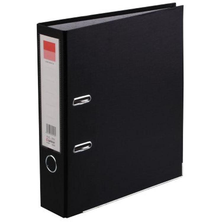 齐心COMIX 标准型欧式文件夹档案夹快劳夹 A4黑色3寸2孔放资料夹 A106N