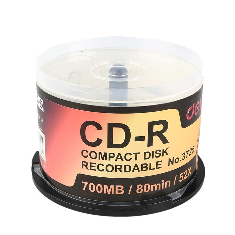 得力Deli 办公用可刻录光盘CD 3725
