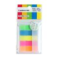 齐心COMIX 办公学习长条易事贴 5色荧光彩色标签便利贴 D6017