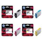 惠普HP 5525/4625/4615/3525喷墨打印机685原装墨盒黑色/红黄蓝色普通装