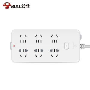 公牛BULL 电源转换器 3米/1.8米/5米双排6孔插排 插座 109K