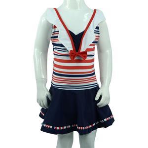 千千 裙子式可爱连体儿童泳装女童泳衣 6423