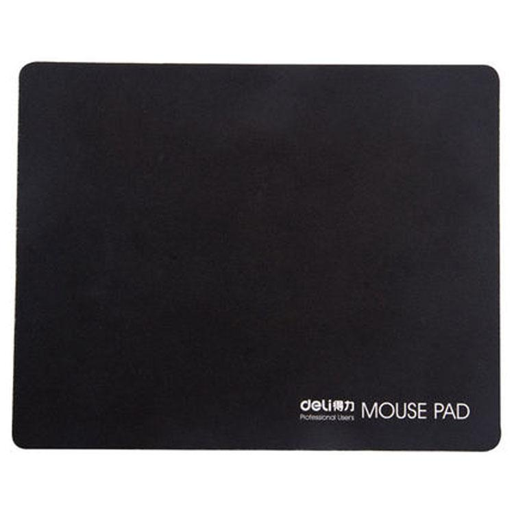 得力Deli 办公家用电脑用桌面黑色防滑鼠标垫 3692