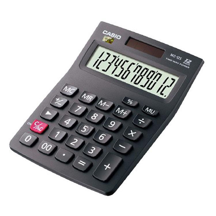 卡西欧CASIO 日常财务超市收银用 桌面办公小型计算器 MZ-12S