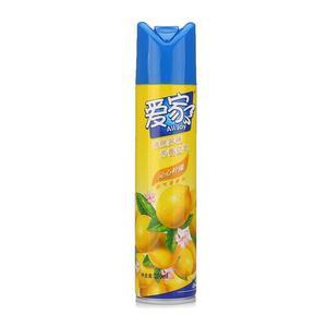 爱家 柠檬味空气清新剂瓶装喷雾 家庭办公室卫生间除臭除异味