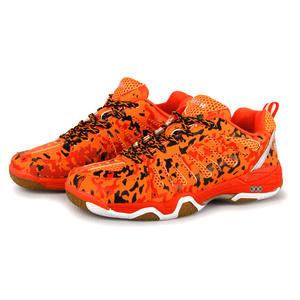 伟士WISH 男女通用款橙色迷彩羽毛球鞋 WSB-291