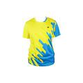 伟士WISH 男女款黄蓝色短袖羽毛球T恤 快干透气专业羽毛球服短袖上衣 CM-1703/CF-1753